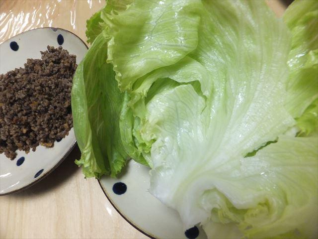 有機野菜「大地宅配」お試しセットで作った料理。レタス