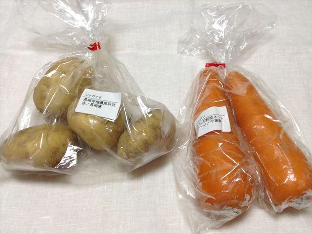 有機野菜「大地宅配」お試しセットの詳細内容:人参、ジャガイモ