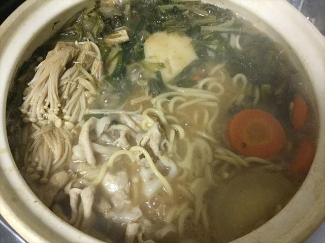 マルサン「みそちゃんこ鍋スープ」で鍋料理